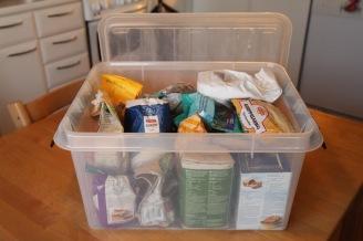 Kuivatarvikkeiden laatikko
